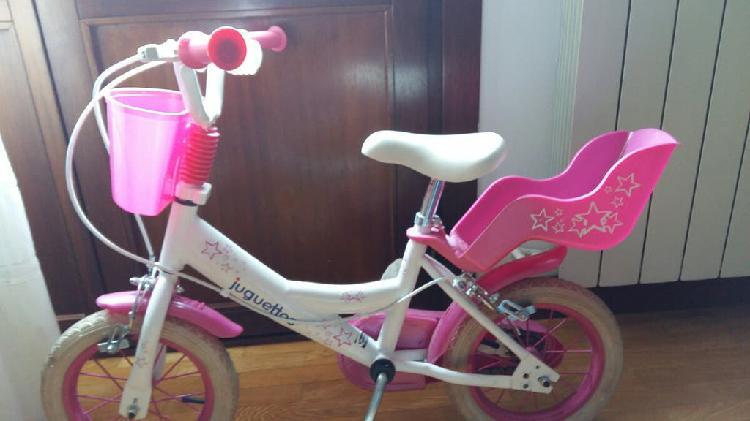 Juguettos bicicleta rosa 14''