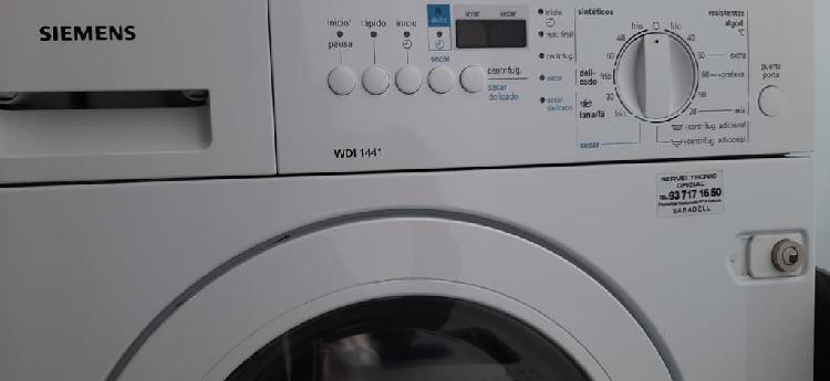 Lavadora secadora siemens integrable