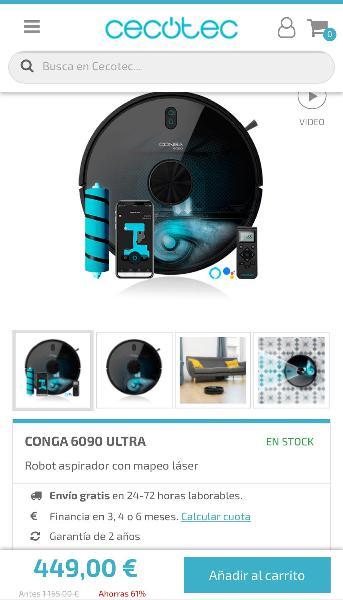 Robot aspirador 6090 ultra cecotec