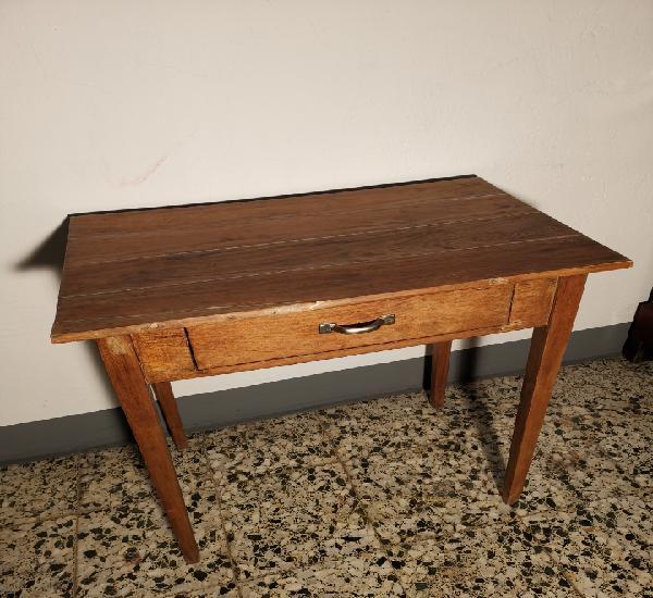 Mesa auxiliar de madera de pino. años 1950s 1960s