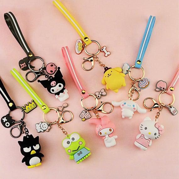3d cartoon keychain sanrio personajes hello kitty kuromi my