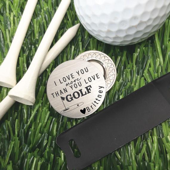 Golf ball marker golf regalo de san valentín regalo de día