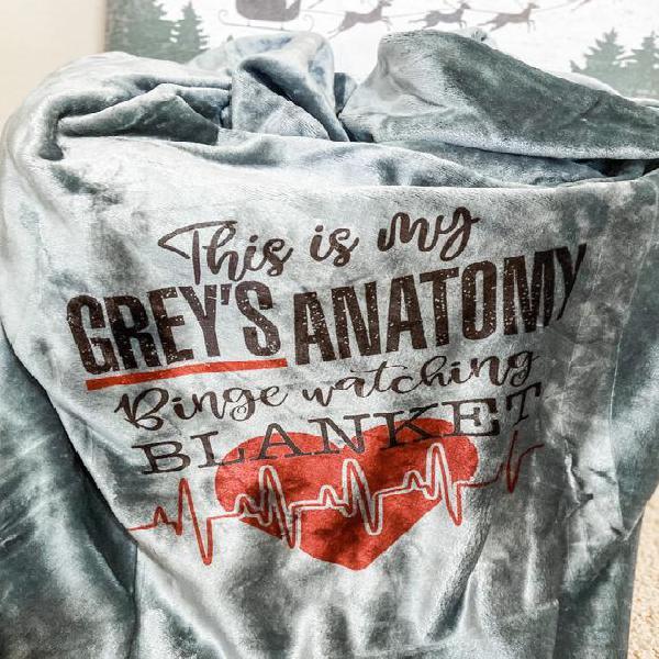Grey's anatomy watching blanket - sherpa