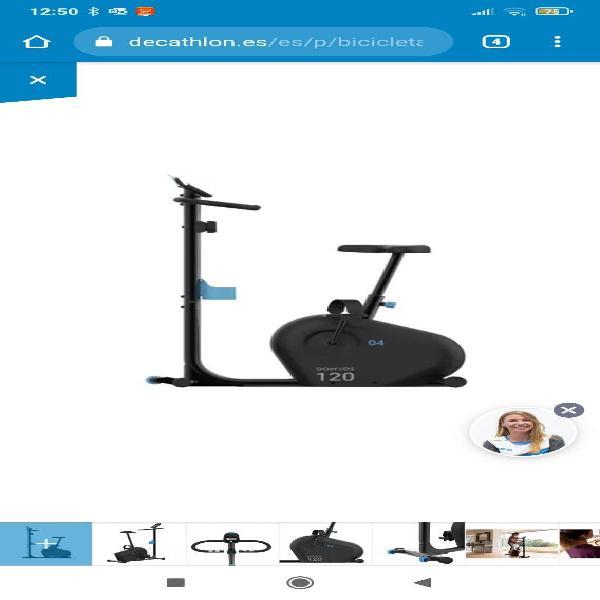 Bicicleta estática como nueva comprada en abril
