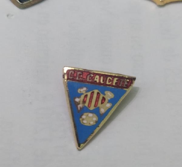 Pins de fútbol. cd. caudete fd. castilla la mancha la