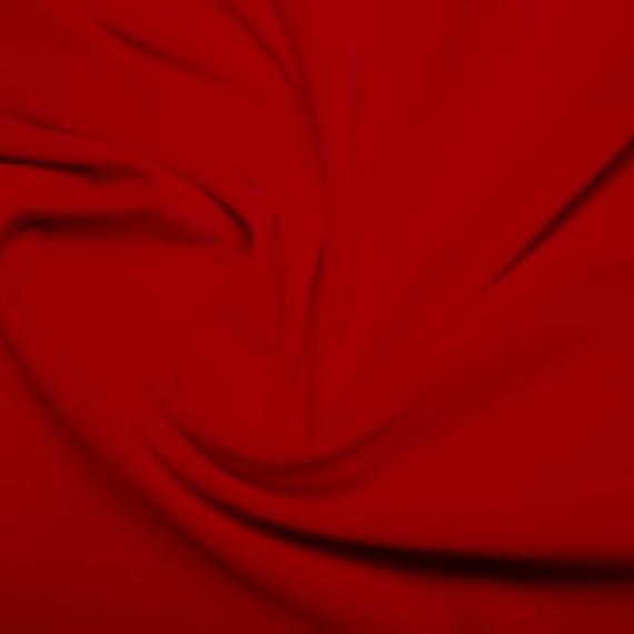 Rojo premium 100% algodón terciopelo tela material - 112cm