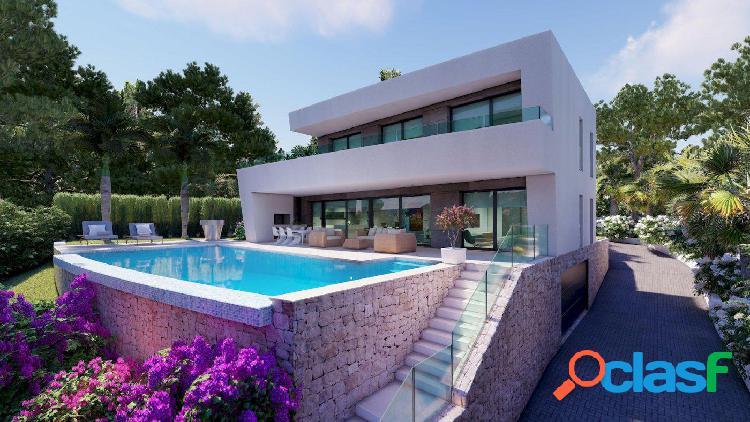 Villa de lujo de nueva construcción con vistas al mar y agradables vistas abiertas hacia Moraira 1