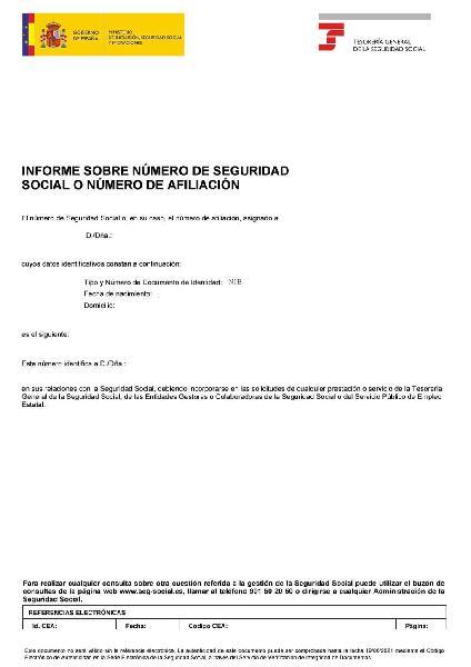 Asignacion número de seguridad social