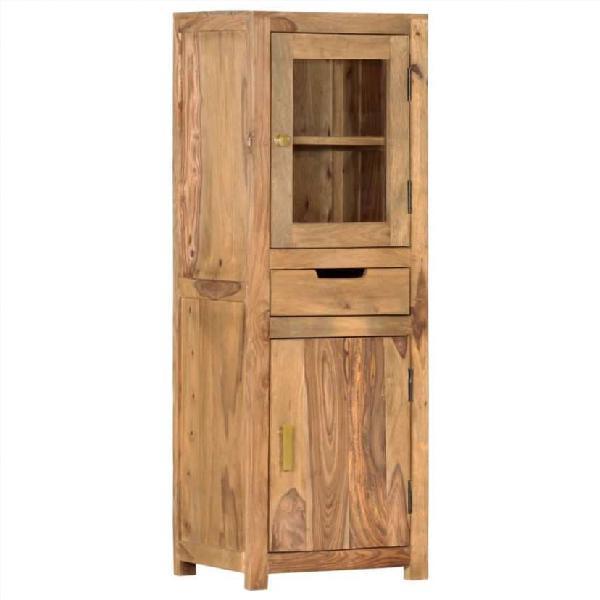 Aparador de madera maciza de sheesham 40x34x114 cm
