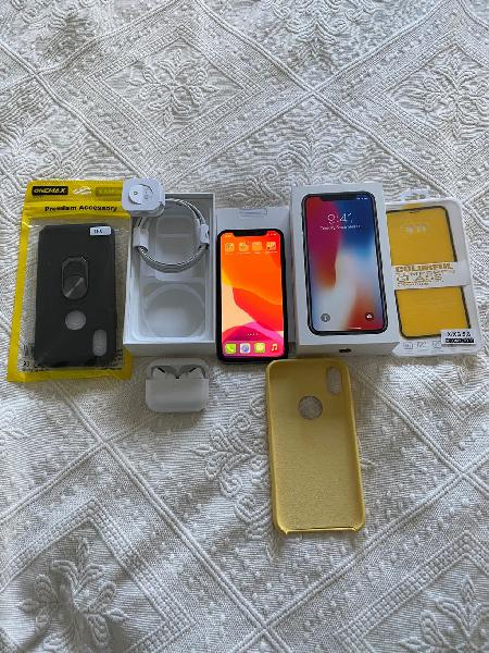 Apple iphone x 64 gb y airpods pro ( nuevo )