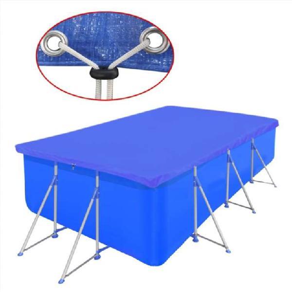 Cubierta rectangular de pe de piscina 90 g/sqm 394