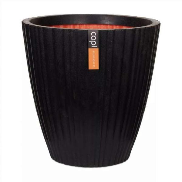 Jarrón cónico urban tube negro 40x40 cm kblt801