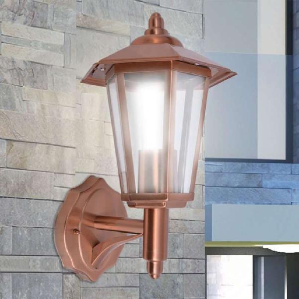 Lámpara farol de pared para exterior acero inoxida