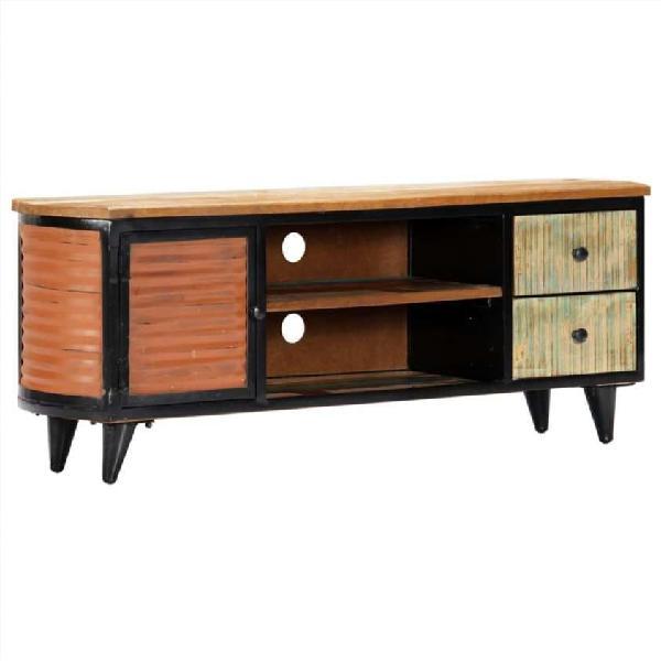 Mueble para tv madera maciza reciclada 120x30x45 c