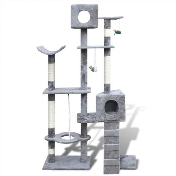 Rascador para gatos poste para gatos 175cm 2 condo