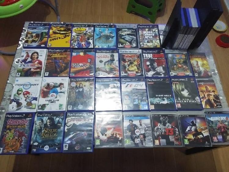 Lote juegos ps2 y dos consolas ps5 playstation 2