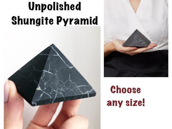Shungite pyramid emf 5g protection (elija el tamaño)
