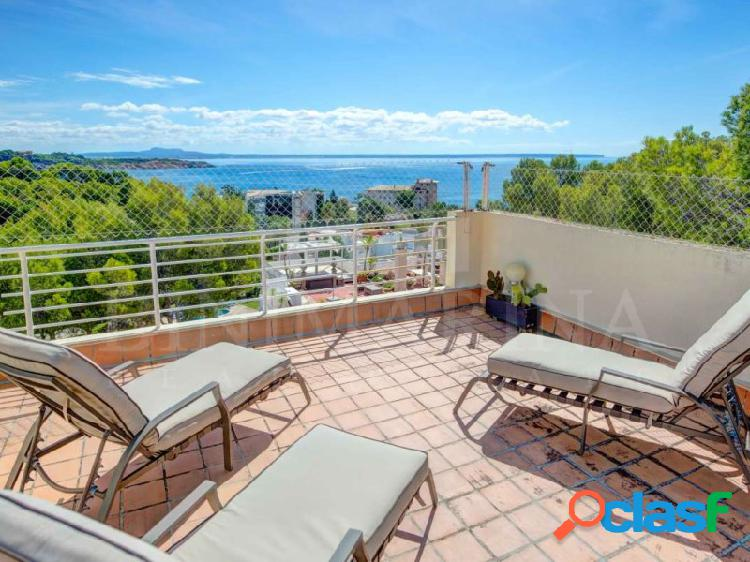 Ático con terraza privada de 125 m2 con vistas al mar y la montaña en cas catalá, palma de mallorca