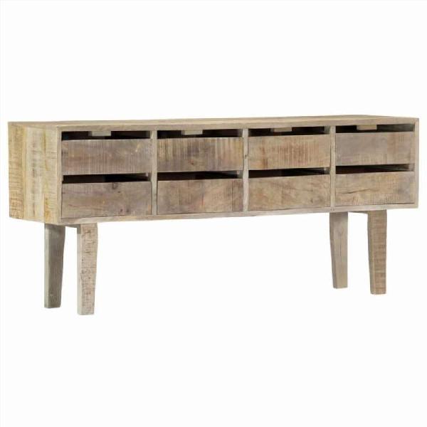 Aparador de madera maciza de mango 140x30x60 cm