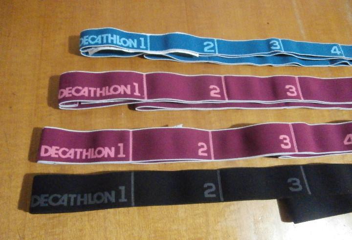 Cuatro cintas elasticas para fitness - de decathlon