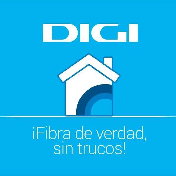 Empleo comercial telefonía y fibra óptica.