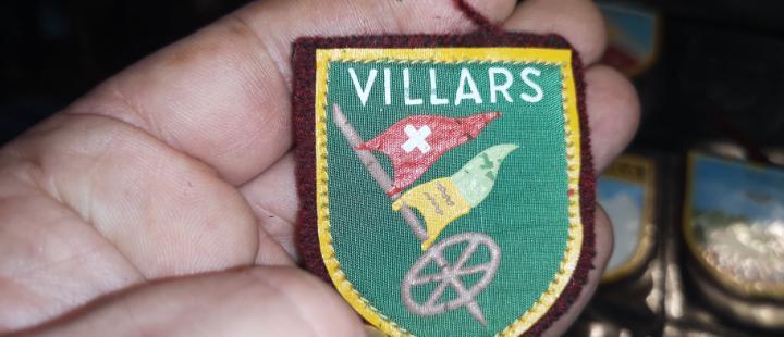 Escudo de las pistas de esquiar de villars años 40