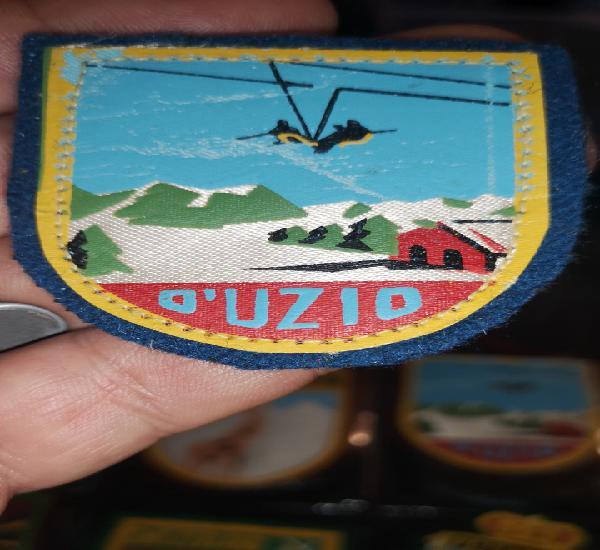 Escudo de tela años 40 a 50 de las pistas de esquiar d'uzio