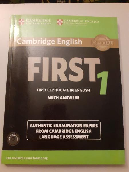First certificate in english nuevo