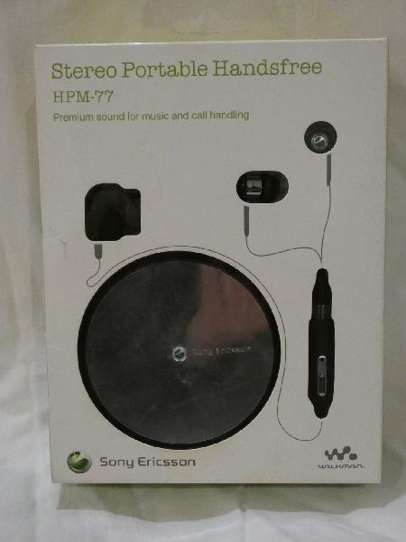 Manos libres portátil estéreo hpm-77 sony ericsson