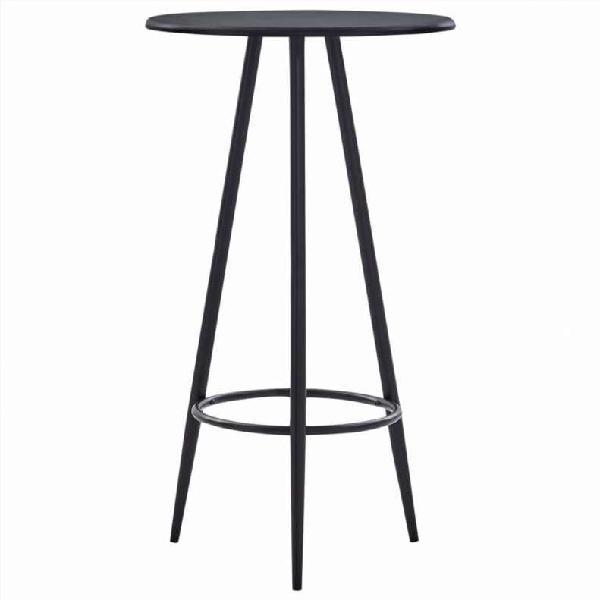 Mesa alta de cocina mdf negro 60x107,5 cm