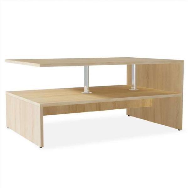 Mesa de centro de madera aglomerada 90x59x42cm col