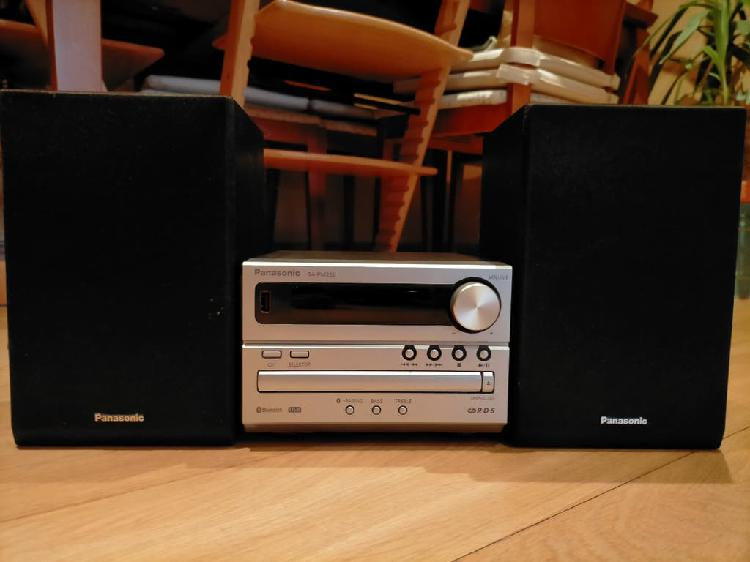 Microcadena panasonic 20w. usb, bluetooth, cd, fm