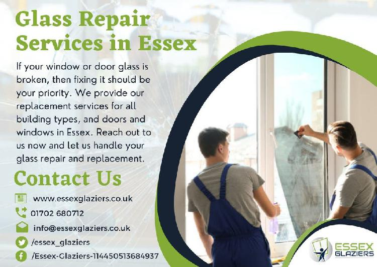 Our glaziers in essex help with glass repair