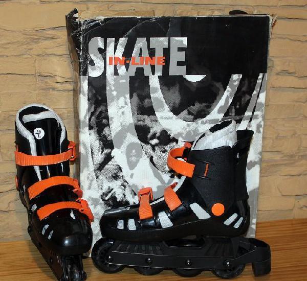 Patines en linea - skate in line - talla 38 - nuevos y en su