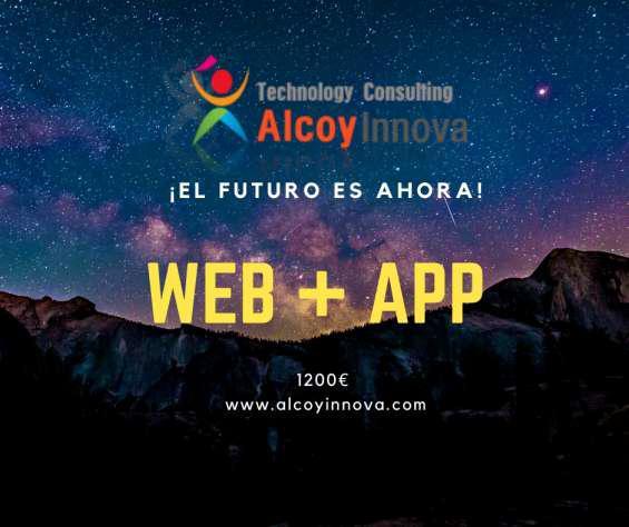 Web+app por 1200€ (impuestos no incluídos) en alcoi
