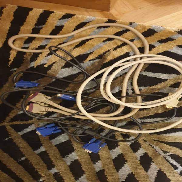 Cables imagen vga vdi hdmi y de corriente