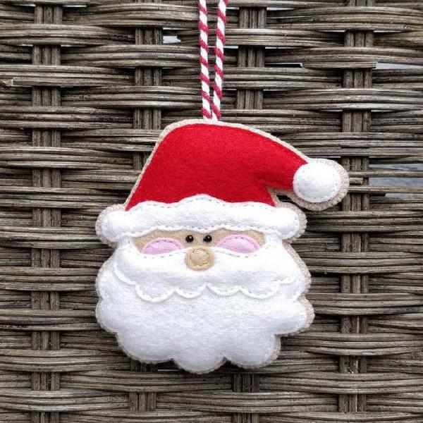 Felt santa claus adorno de navidad - decoración del padre