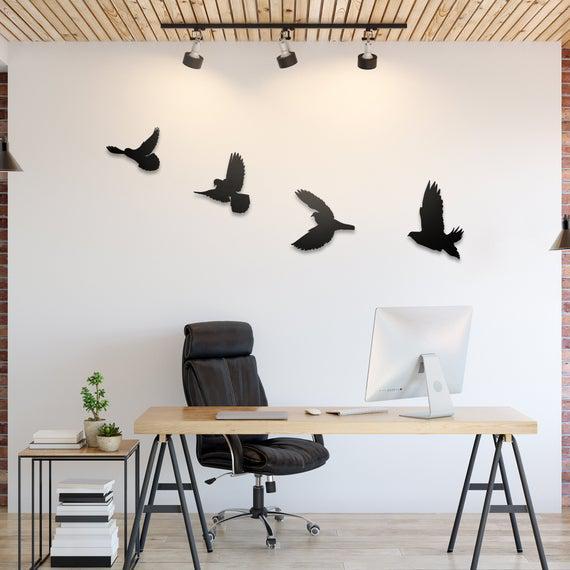 Libertad - arte de la pared del metal del pájaro,