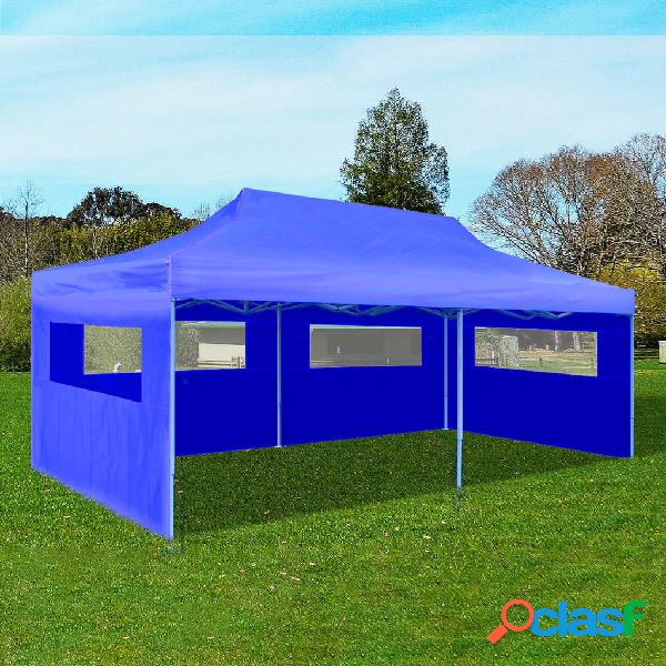 Vidaxl carpa plegable pop-up azul 3x6 m