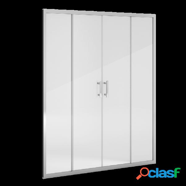 Mampara de ducha frontal 2 puertas centrales 140 pixarena