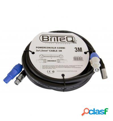 Briteq powercon/xlr combi 3x1,5mm² cable 3m