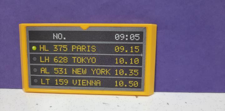 Playmobil ref 3886 panel aeropuerto llegadas/salidas