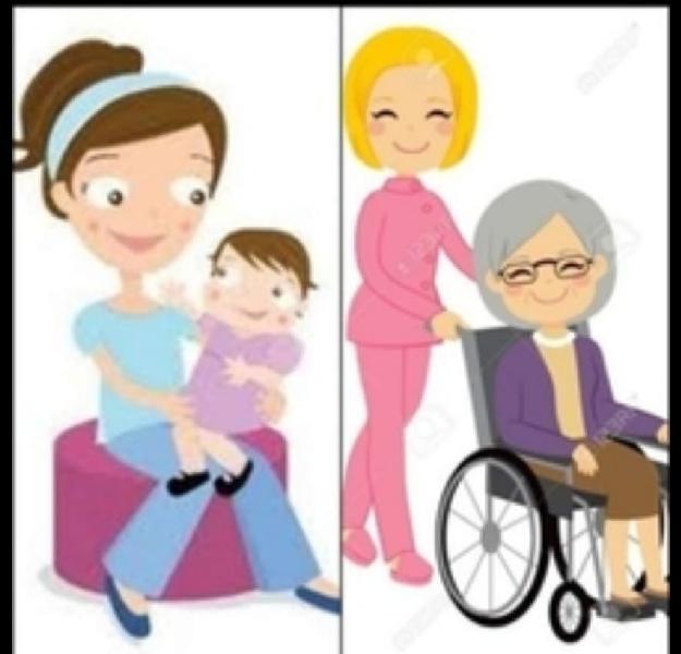 Cuidado de niños,tercera edad y servicio doméstico
