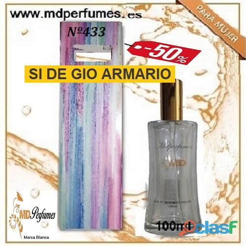 Oferta perfume mujer nº433 si de gio armario alta gama 100ml 10€