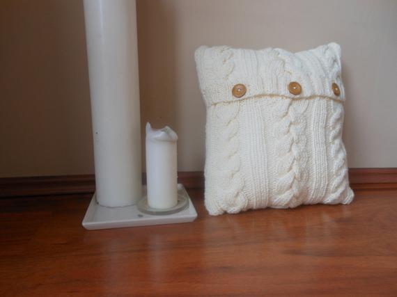 Cable knit almohada funda almohada almohada decorativa punto