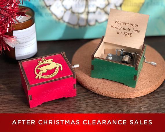 Después de las ventas finales de navidad notas de amor