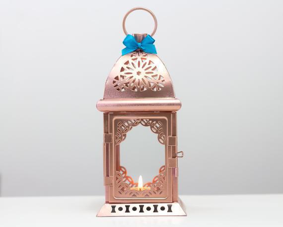 Envío gratis-rose efecto oro linterna marroquí-unique