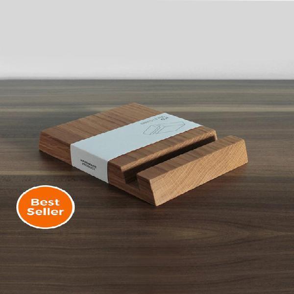 Soporte para ipad de madera - soporte cuadrado en madera de