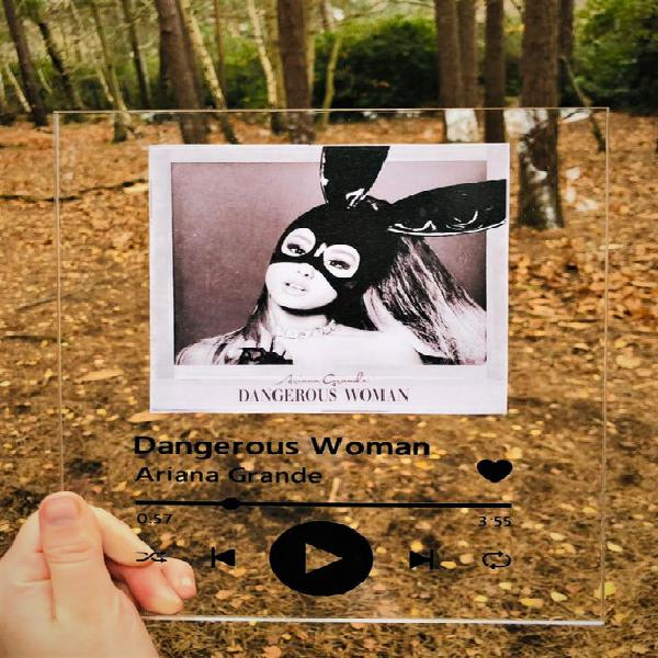 Spotify glass / acrylic 8x10 / custom music plaque - crear