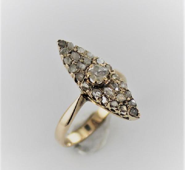 Anillo vintage oro 18 k y diamantes